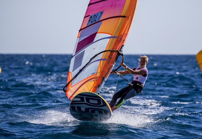 Na zdjęciu: Maja Dziarnowska (fot. Sailing Energy / CNA / RSX CLASS